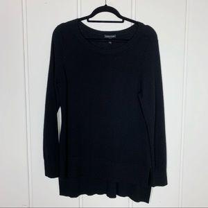 Eileen Fisher 100% Merino Wool Black Sweater